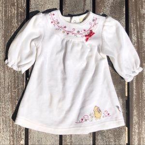 3m Classic Pooh Winter Velvet Dress, Embroidery